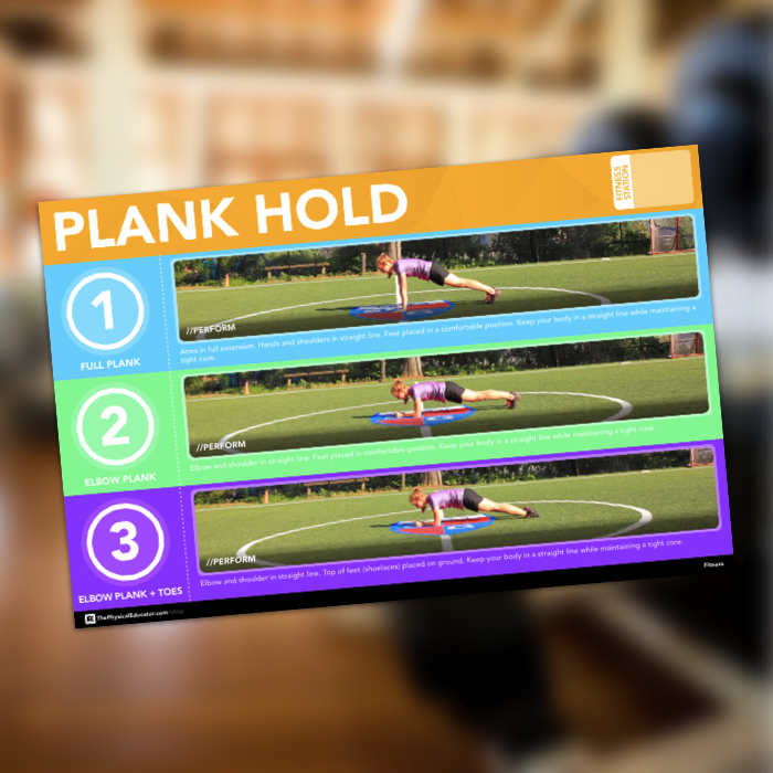 Plank Hold Fitness Station Poster