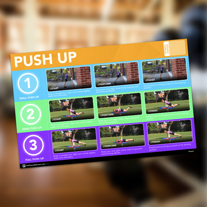 Pushup Fitness Station Poster