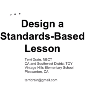 How to Design a Standards-Based Lesson