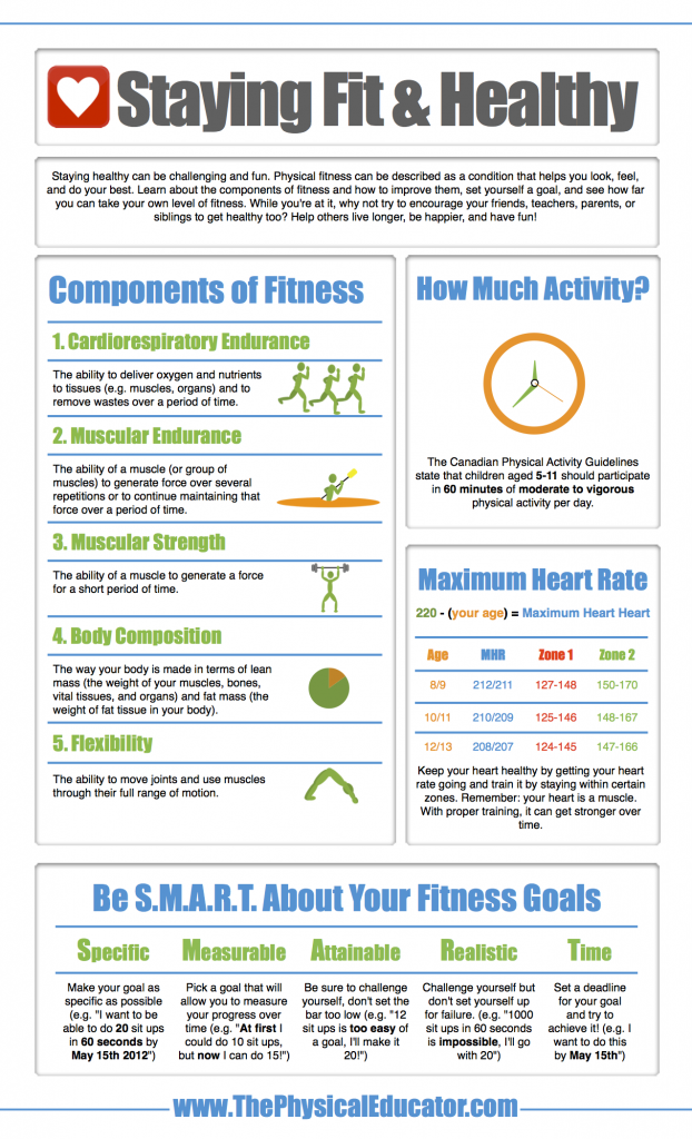 Fitness Component Infographic