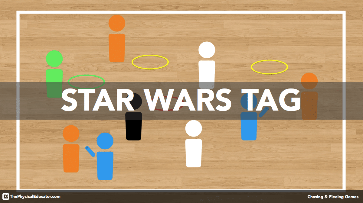 Star Wars Tag - Chasing and Fleeing Physical Education Game