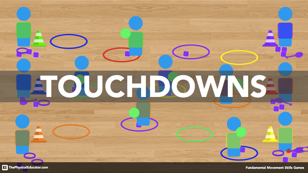 Touchdowns Physical Education Game