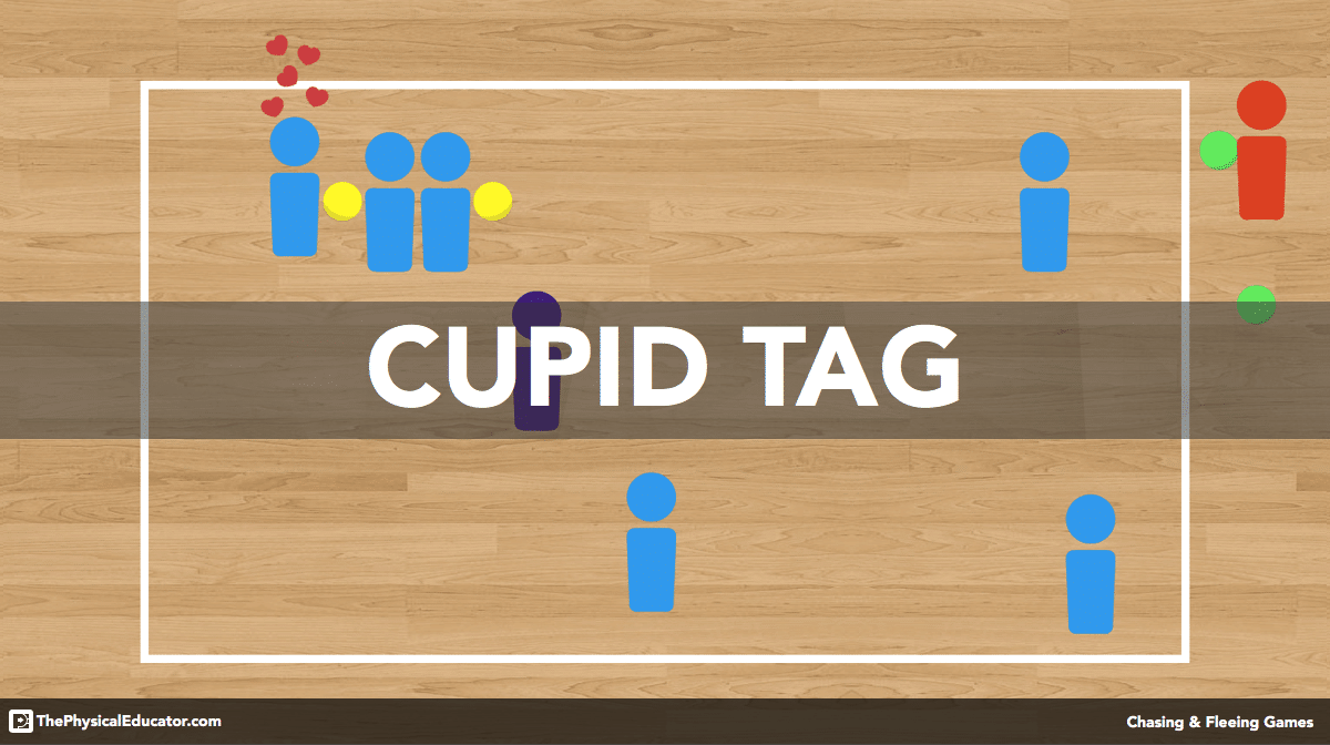 Cupid Tag - Chasing and Fleeing Physical Education Game