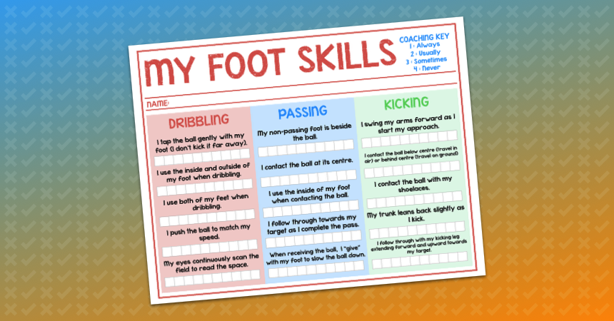My Skill Sheet Mini Coach