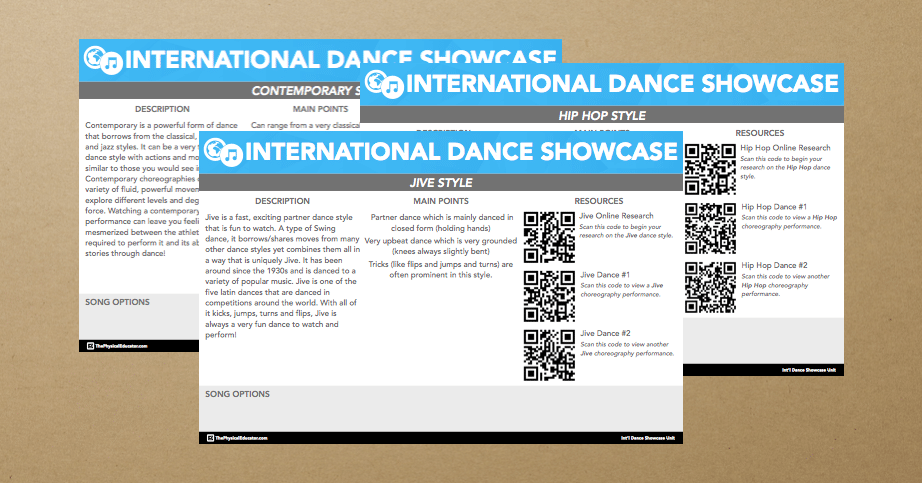 Dance Styles Posters Banner