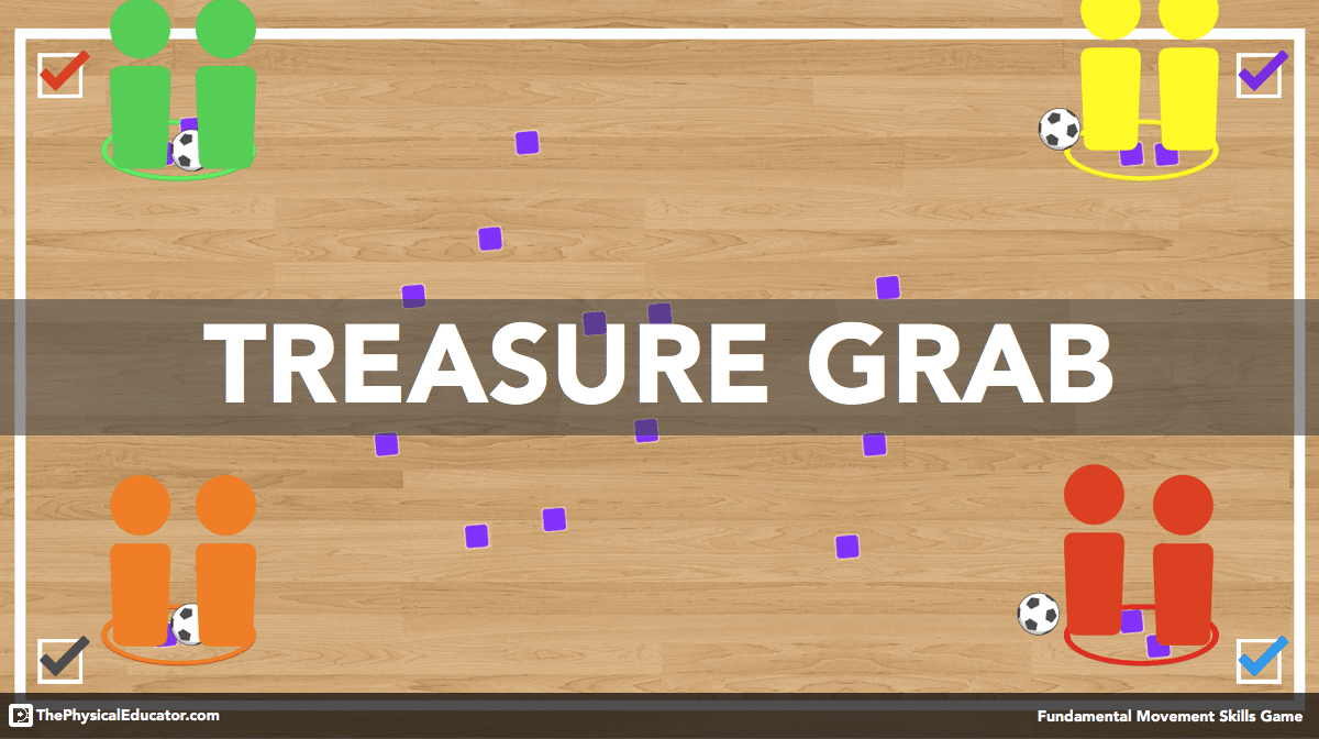 Treasure Grab Physical Education Game