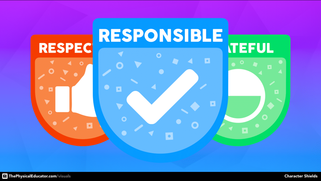 Responsibility Character Shield Physical Education