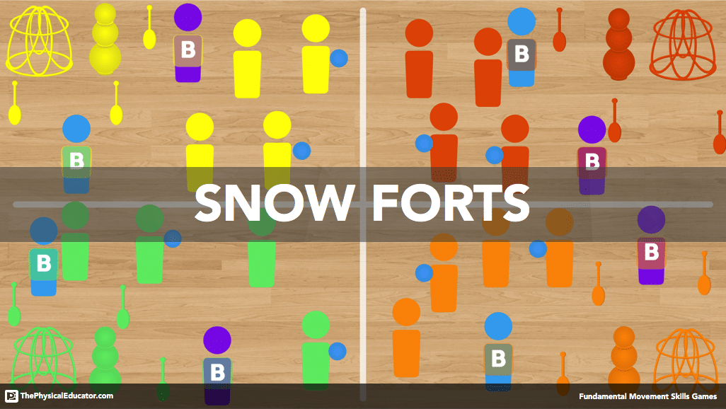 Snow Forts Physical Education Game