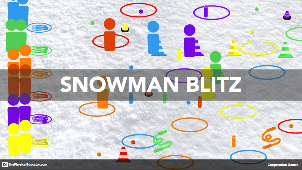 Snowman Blitz Physical Education Holiday Cooperation Game