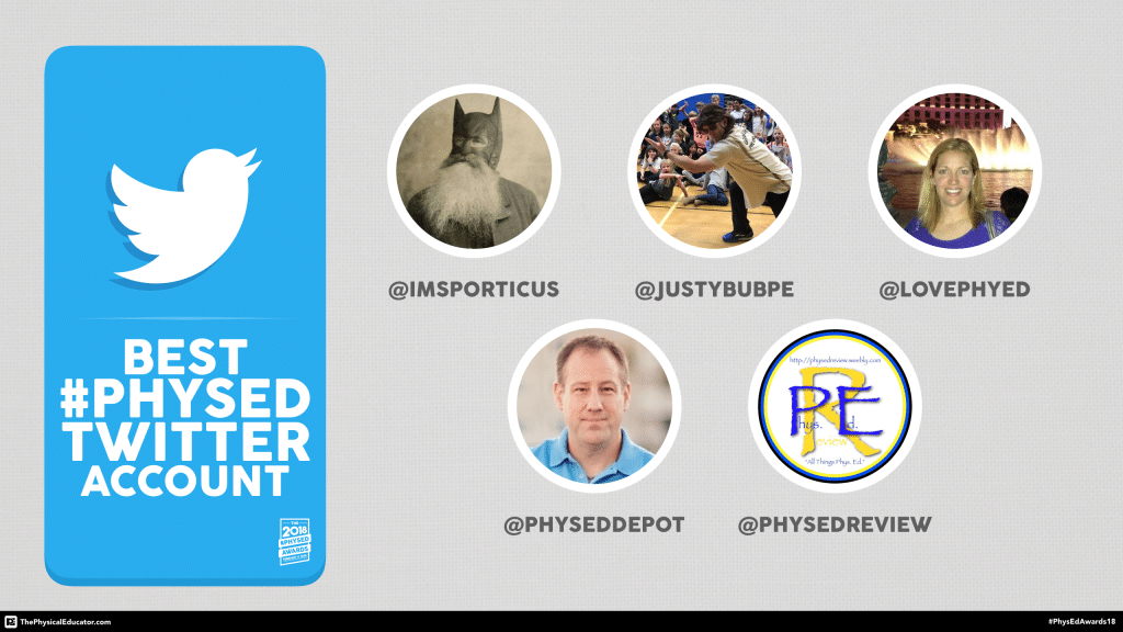 2018 #PhysEd Awards - Best #PhysEd Twitter Account