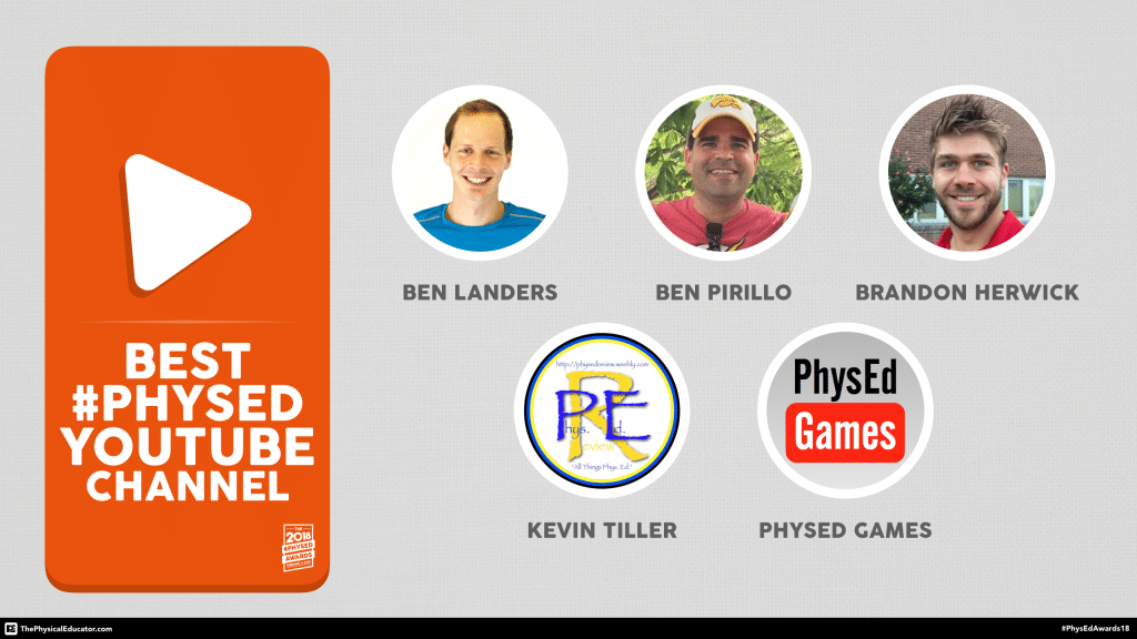 2018 #PhysEd Awards - Best #PhysEd YouTube Channel