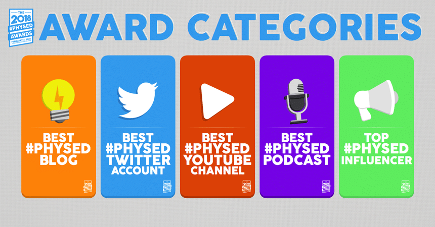 2018 #PhysEd Awards Categories
